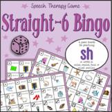 Speech Artic - 'sh' sound: Straight-6 Bingo Game
