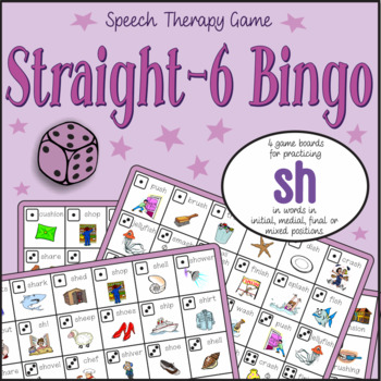 Speech Artic - 'sh' sound: Connect-6 Bingo Game