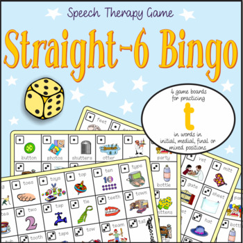 Speech Artic - /t/ sound: Connect-6 Bingo Game