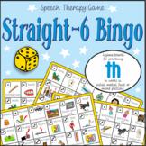 Speech Artic - 'th' sound: Straight-6 Bingo Game