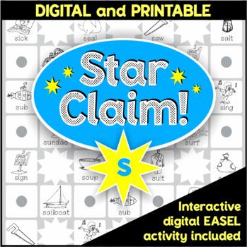 Speech Articulation Activity (Black & White):  Star Claim