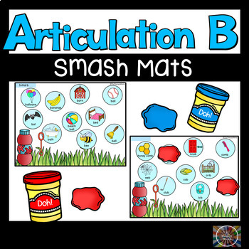 Speech Therapy Articulation B Bubble Smash Mats