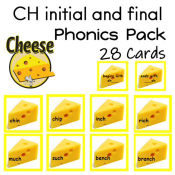 CH initial and final 28 Reading Fluency Center Cards