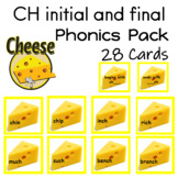 CH initial and final Phonics Pack 28 Cards