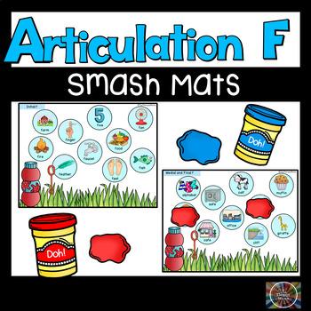 Speech Articulation F Bubble Smash Mats