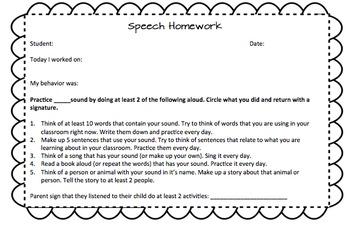 Speech Articulation Homework