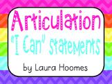 "Speech Articulation ""I Can"" Statements"