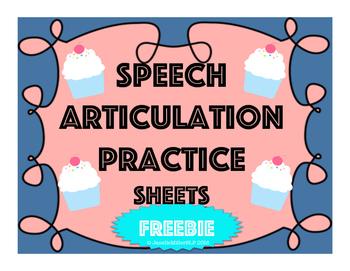 Customizable Self-Monitoring Speech Visual-Worksheets {FREEBIE}