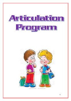 Speech Articulation Program - 21 pages!