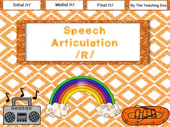 Speech Articulation R Sounds {Initial, Medial, Final Positions}