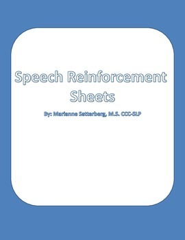 Speech Articulation Reinforcement Sheets
