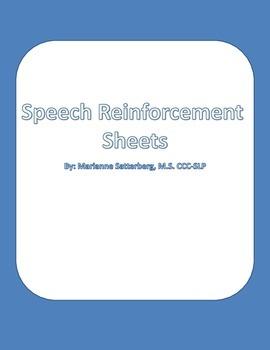 Speech Articulation Reinforcement Sheets