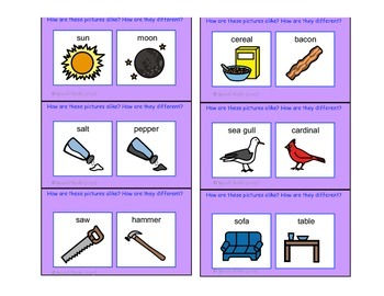 Speech Articulation ~ S Compare/Contrast Cards ~ Freebie