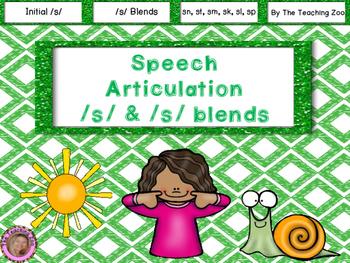 Speech Articulation S and S Blends