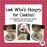 """Christmas Speech and Language Activity - """"Santa and Kids Love Cookies"""""""