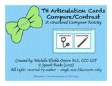 Speech Articulation ~ TH Compare/Contrast Cards ~ Freebie