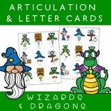 Speech Articulation and Phonics Letter Cards - WIZARDS and DRAGONS