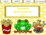 Speech Articulation /f/