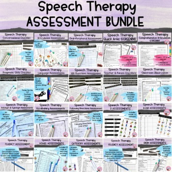 Speech Therapy Assessment BUNDLE