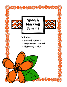 Speech Assignment Marking Scheme