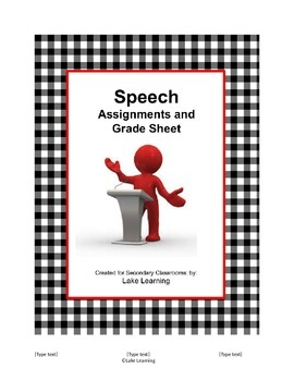 Speech Assignments for Secondary