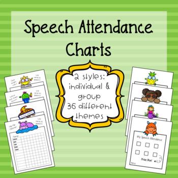 Speech Attendance Charts