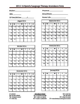 Speech Attendance Sheet 15-16