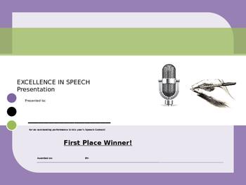 Speech Award