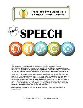 Speech BINGO for Goals