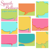 Speech Balloon Paper and Cards