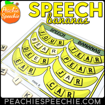 Speech Bananas: Letter Tile Activity