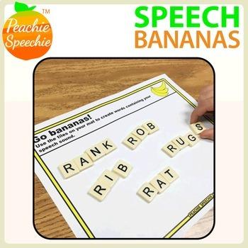 Speech Bananas: Letter Tile Activity