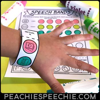 Speech Bands: Articulation Worksheets and Wristbands