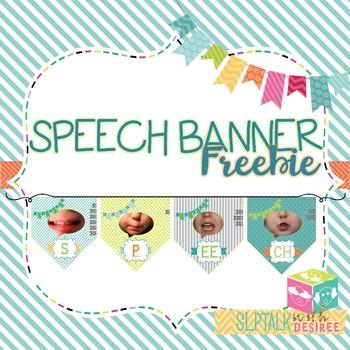 Speech Banner FREEBIE