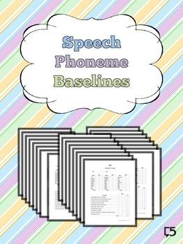 Articulation & Speech Progress Monitoring ALL PHONEMES, BLENDS, VOCALICs
