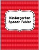 Speech Binder Covers (FREE)