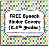 Speech Binder Covers (FREE)