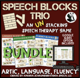 Speech Blocks TRIO  BUNDLE for Speech Therapy (game companion)