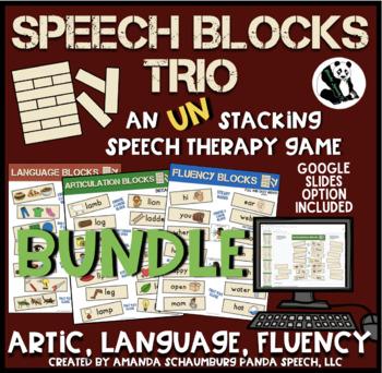 Speech Blocks TRIO  BUNDLE for Speech Therapy