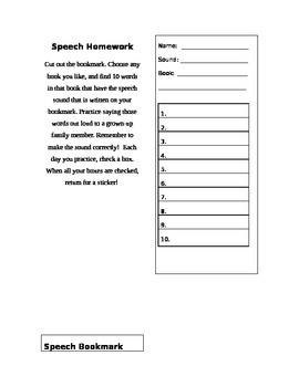 Speech Bookmark
