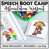 Speech Therapy Gross Motor Workout: Articulation Boot Camp
