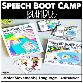 Gross Motor Boot Camp Articulation and Language BUNDLE - Distance Learning
