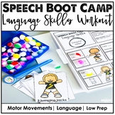 Gross Motor Boot Camp Activities - Language Skills | Distance Learning