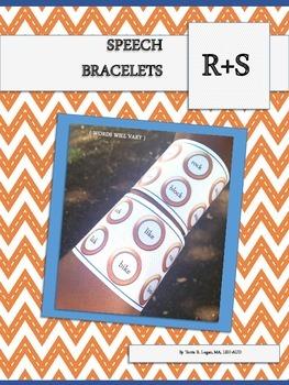 Speech Bracelets - R and S  FREEBIE