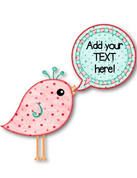 Speech Bubble Birds Clip Art ~ Commercial Use OK ~ Dotty Dots