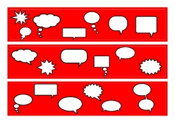 Speech Bubble Bulletin Board Border