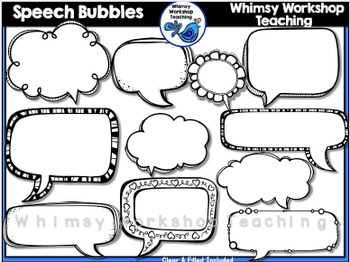 Speech Bubble Clip Art - Whimsy Workshop Teaching