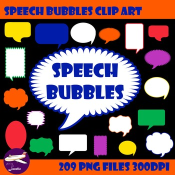 Speech Bubble Clip Art for Sellers, Bulletin Boards and More