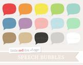Speech Bubble Clipart; Thought, Talk, Cloud