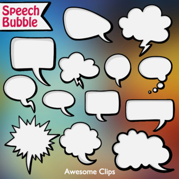 Speech Bubble Clipart (Awesome Clips by Lollipop)